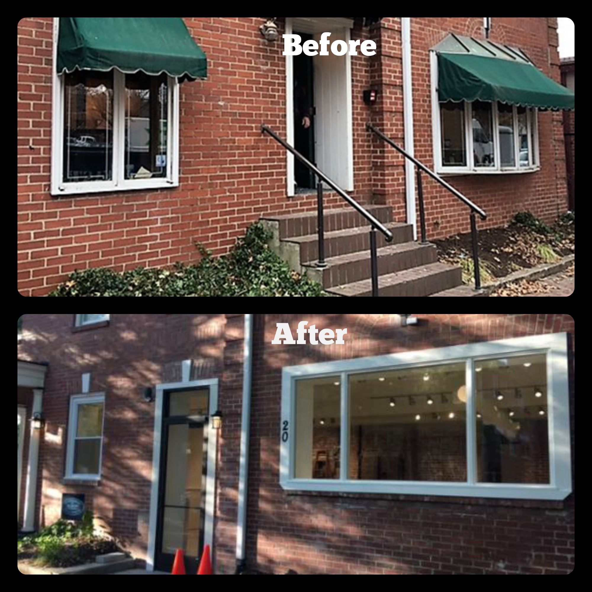 Before and after Retail Space